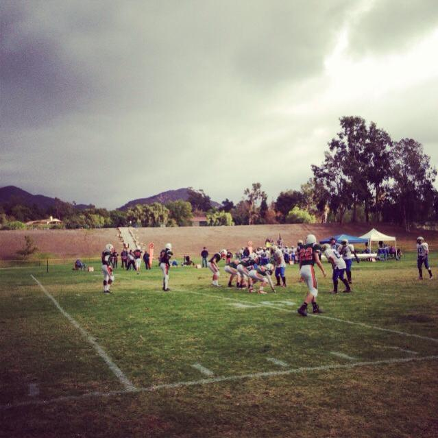The Thacher Football team plays in second round CIF playoff action. Photo Credit Anne Gregory '15