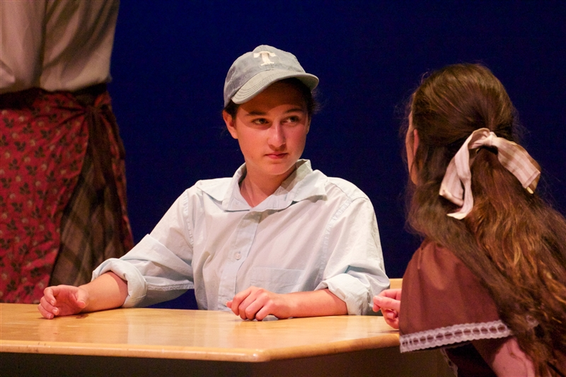 Stella Frank '15 plays the role of young Wally Webb. Photo Credit Dana Vancisin
