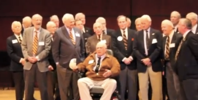 Jack Huyler performs during the 70th Anniversary celebration of the Nassoons at Princeton University