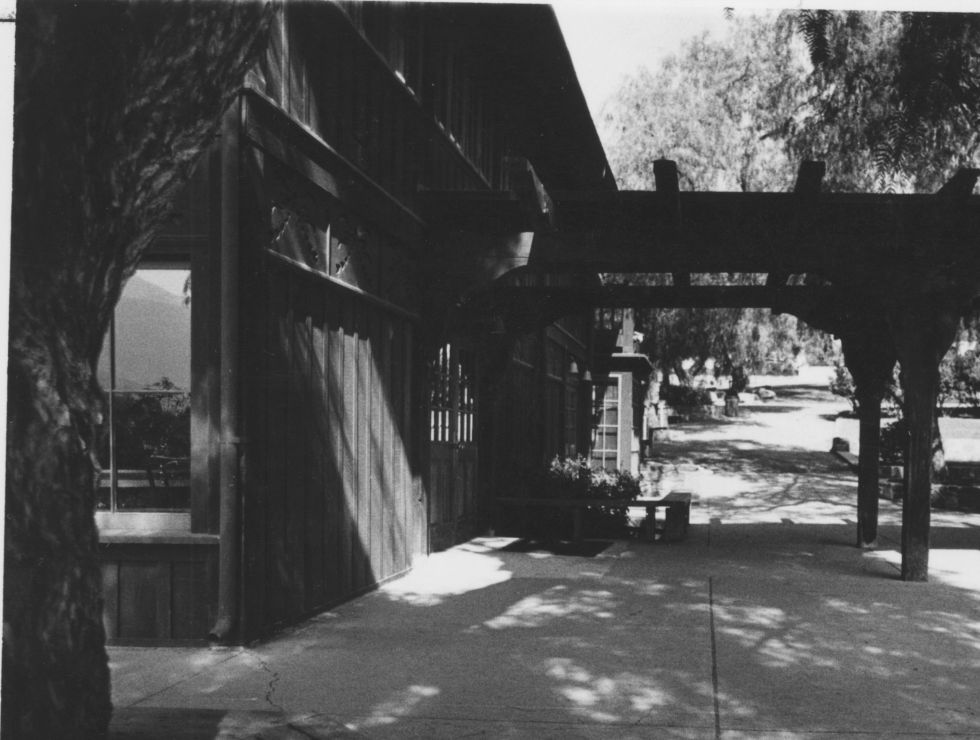 An undated photograph of the dining hall's exterior shows how little change has happened. Archival Photograph courtesy of Bonnie LaForge