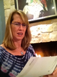 Ms. Cindy Baird, mother of Samantha Baird '16, reacts to her daughter's student account bill.