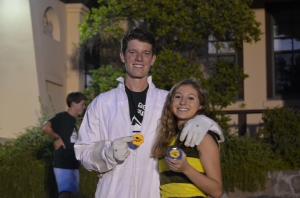 Orren Fox '15 and Arianna Finger '15 show off their bee spirit. Photo Credit: David Amano '15
